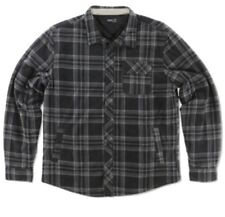 O'neill Aspahalt Mens Plaid button up Fleece Jacket Gray Large NWT