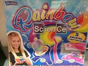 532 Rainbow Science Kit For Girls 5 Amazing Experiments  Age 8+ Years John Adams