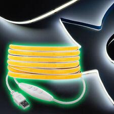 Flexible LED Strip Light 1m Natural White 3000K DC 12V 360 LEDs FCOB Durable