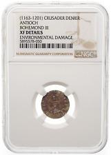 CRUSADERS, Antioch. Bohemond III Silver Denier, 1163-1188 AD, NGC XF Details