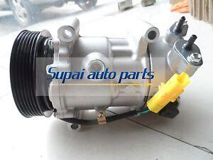 New A/C Compressor SD6C12 For Peugeot 207 307 408/Citroen C2 C4