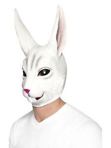 Lapin Masque Hommes Déguisement par la Tête Masque Visage Animal Accessoire