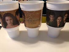 Twilight Saga New Moon Eclipse Burger King Promo Cups 42 Oz. Edward Bella Jacob