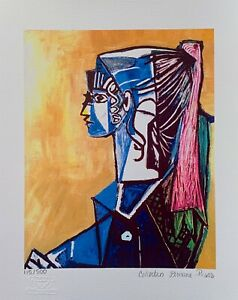 """Pablo Picasso PORTRAIT OF SYLVETTE Estate Signed & Numbered Giclee Art 17"""" x 11"""""""