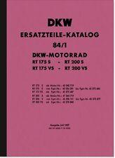 DKW RT 175 S vs 200 S vs RICAMBIO elenco Catalogo parti di ricambio Spare Parts Catalogue