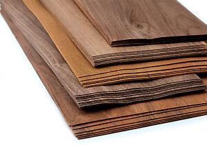 15-17 Stk 0,8qm Furnier Holz Nussbaum Modellbau Ausbesserung basteln holzplatte
