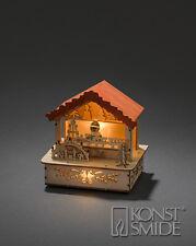 NATALE 12.5cms in legno 3 LED VILLAGGIO MERCATO BOOTH / STAND Figura -train