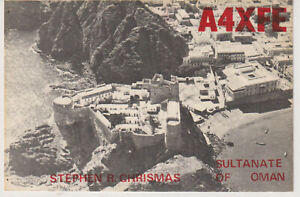 QSL Card A4XFE Muscat  Sultanate of Oman  from 1974
