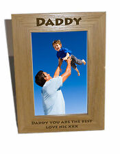 Daddy Wooden Photo Frame 6x8 - Personalise this frame - Free Engraving