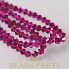 New Arrival 200pcs 3mm Faceted Bicone Loose Spacer Glass Beads Rose Red
