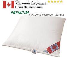 Premium Air Cell 3-Kammer Kissen außen Daune 80x80 cm innen Air Cell Stäbchen