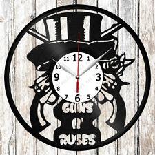 Guns N/' Roses Vinyl Wall Clock Made of Vinyl Record Original gift 2542