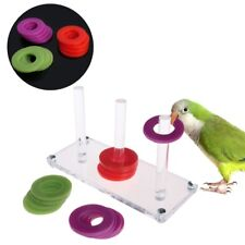 Bird Parrot Toy Develop Bright Color Intelligence Ring Train Educational Growth