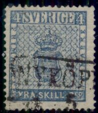 SWEDEN #2 (2) 4sk light blue, used w/boxed Nykoping cancel, VF, Scott $100.00