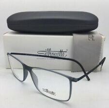New SILHOUETTE Eyeglasses SPX 2902 40 6051 55-17 Matte Grey Transparent Frames