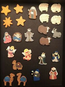 Kurt Adler Wood Magnetic Nativity Advent Calendar Replacement Pieces CHOOSE ONE