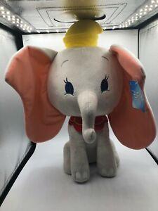 Large Dumbo The Elephant Walt Disney Company Grey Plush Kids Stuffed Toy Animal