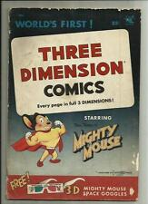 THREE DIMENSION COMICS #1 MIGHTY MOUSE  1953 ST. JOHNS  W/ GLASSES  VG-