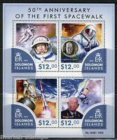 SOLOMON ISLANDS 2015 50th ANNIVERSARY OF FIRST SPACEWALK SHEET MINT NH
