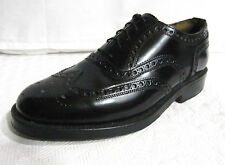 LOTUS Glasgow Size 8.5 Men's Black Wingtip Oxford Goodyear Welted Made England