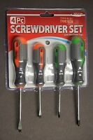 Tool Solutions 4 PC Screwdriver Set with Stand and Magnetized Steel Tips Comfort