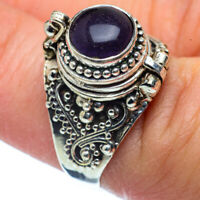Amethyst 925 Sterling Silver Poison Ring Size 7.5 Ana Co Jewelry R37456F