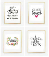 Choice of Inspirational Quotes Posters Post Cards Gallery Wall Prints Wall Art