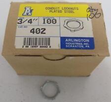 "ARLINGTON CONDUIT LOCKNUTS PLATED STEEL 3/4"""