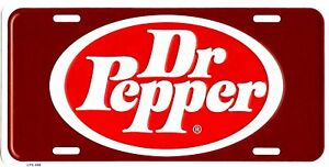 NOS DR PEPPER METAL LICENSE PLATE AUTO TAG NUMBER #498