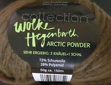 (144,40€/kg): 300 g ARCTIC POWDER, Wolke Hegenbarth, braun 10, Volumengarn #1612