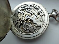 ANTIQUE SILVER OMEGA  CHRONOGRAPH  POCKET WATCH.