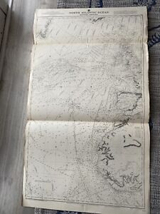 Orig Nautical Chart Map North Atlantic Ocean Eastern Portion 2060A Dated 1939