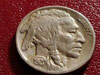 Fine 1920 P Buffalo Nickel, Solid Strike w Holder