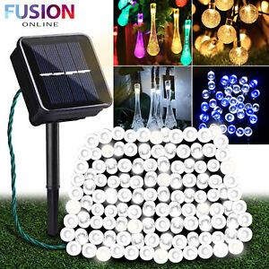 Solar Powered Garden Lights String Fairy Light Outdoor Lamp Summer Patio Party