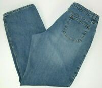 St. John's Bay Women's Relaxed Fit Straight Leg Blue Jeans 100% Cotton 14  #2