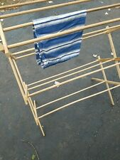 CLOTHES DRYING RACK  Folding Expandable ~ Wood  ~ Laundry Dryer Free Standing