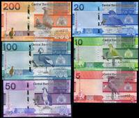 Gambia Set 6 Pcs 5 10 20 50 100 200 Dalasis 2019 P NEW UNC