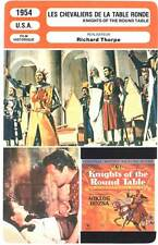 LES CHEVALIERS DE LA TABLE RONDE - Taylor,Gardner,Ferrer (Fiche Cinéma) 1954