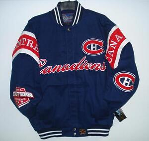 NHL Montreal Canadiens Hockey Embroidered Cotton Twill Jacket  JH Design Size S