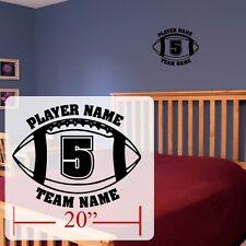 Football Wall decal,Personalized Football Room stickers,vinyl Football custom