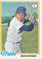 1978 Topps #653 Ron Hodges New York Mets Baseball Card