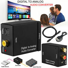 Digital Toslink Optical Coax to Analog L/R PC RCA Headphone Outputs Audio