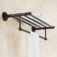 Oil Rubbed Bronze Bathroom Towel Shelf Rail Holder Hanger Storage Rack ZD654