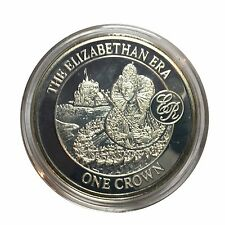 2008 Gibraltar Elizabethan Era Silver Proof One Crown in Capsule
