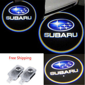 2 LED Door Step Courtesy Light Shadow Logo Projector For Subaru Legacy Impreza