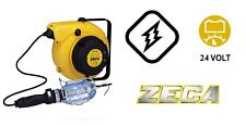 Zeca 5908/T306 Avvolgicavo avvolgitore con lampada e trasformatore 24v