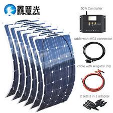 600w Flexible Solar Panel Solar system For Caravan/Boat Home 12V Battery Charger