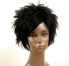 perruque afro femme 100% cheveux naturel courte noir ref LAET 07/1b