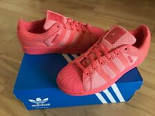 ADIDAS Superstar Weave Women's Trainers, Coral - Size 6.5