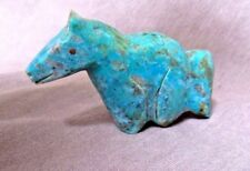 Native Zuni #8 Turquoise Horse Fetish by Leland & Daphne Boone C1995